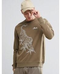 Maharishi - Line Tiger - Sweatshirt mit Rundhalsausschnitt - Grün