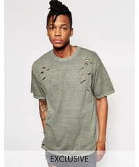 Reclaimed Vintage - Oversized-T-Shirt im Used-Look - Grün