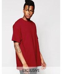 Reclaimed Vintage - Überfärbtes Oversize-T-Shirt - Rot