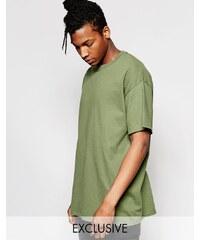 Reclaimed Vintage - Überfärbtes Oversize-T-Shirt - Grün