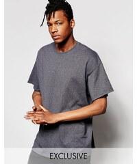 Reclaimed Vintage - Überfärbtes Oversize-T-Shirt - Grau