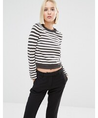 Cheap Monday Cropped Stripe Knit Jumper - Mehrfarbig
