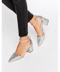 Truffle Collection Truffle - Molly - Glitzernde Schuhe mit mittelhohem Absatz - Silber