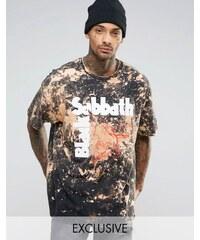 Reclaimed Vintage - Übergroßes, ausgeblichenes T-Shirt - Schwarz