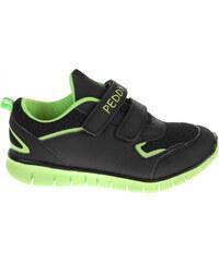 Rejnok Dovoz Peddy chlapecká obuv PU-507-36-01 černá-zelená