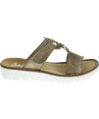 Rieker dámské pantofle 60090-92 zlaté