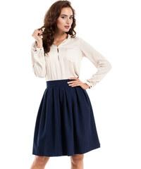 Tmavě modré sukně s vysokým pasem - Glami.cz bbc4e419d4