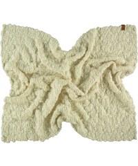 FRAAS Handgestrickte Wolldecke in weiß