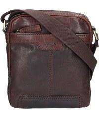 f359a9acd9 Pánská kožená taška přes rameno Lagen 20654 - hnědá