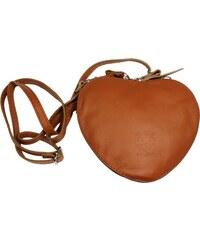 NovaKabelka.sk Kožená kabelka v tvare srdca Cuore Camel 26e073eb248