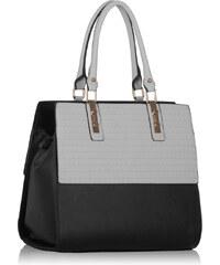 LS fashion LS dámská kabelka s plastic vzorem 257 černo-bílá