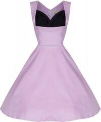 Lindy Bop retro šaty Ophelia růžové (cukrová vata)