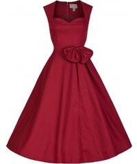 Retro šaty Lindy Bop Grace červené