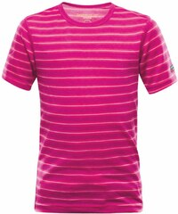 Devold Breeze dámské triko krátký rukáv fuchsia stripes 4 roky