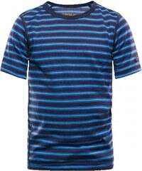 Devold Breeze dětsé triko krátký rukáv mistral stripes 8 let