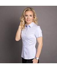 Dámská košile Willsoor 6181 s krátkým rukávem v růžové barvě - Glami.cz 3089a88569