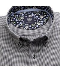 7e16a0cbd41 Willsoor Pánská klasická košile London (výška 176-182) 6449 s černo-bílým