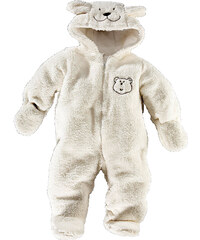 bpc bonprix collection Teddyfleece-Overall langarm in weiß von bonprix