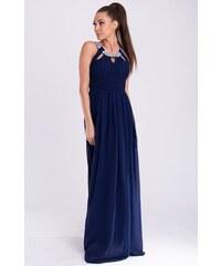Dámské společenské a plesové šaty dlouhé značkové EVA   LOLA šaty tmavě  modré a78c37af78