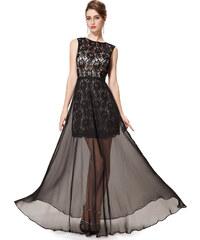 Ever-Pretty Černé úchvatné krajkové šaty s holými zády 17e8672055