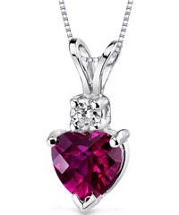 37f7db9c6 Eppi Zlatý náhrdelník so srdiečkovým rubínom a diamantom Demelda