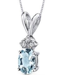Eppi Zlatý náhrdelník s akvamarínom a diamantmi Tamasyna 83a9397917b