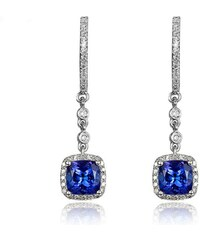 Eppi Zlaté náušnice s tanzanitmi a diamantmi Doana bc06130f609