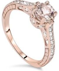 Eppi Zásnubný prsteň s morganitom a diamantmi Nenni 9a4cea6a385