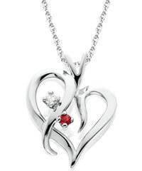 3f244b680 Eppi Zlaté srdiečko plné diamantov a rubínov v náhrdelníku Minka ...