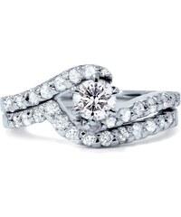 Eppi Jedinečný svadobný set z bieleho zlata s diamantmi Elisabeth f2cf2694875
