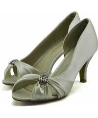 LS fashion LS dámské elegantní saténové lodičky 0133 slonová kost ccd2365473