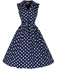 LINDY BOP Dámské retro šaty Matilda tmavě modré e79d54b9dc