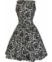 Společenské retro šaty s imitací krajky Lady V London Tea 33d0365977