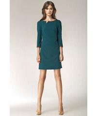 Smaragdová zelená šaty s tříčtvrtečním rukávem - Glami.cz 2a2799917f7