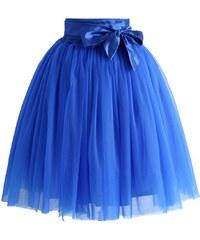 5c882f22755 CHICWISH Dámská sukně Tutu Amore modrá s mašlí