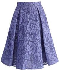 22c492ff279 CHICWISH Dámská sukně Midi Camellia fialková