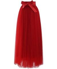 5197dddf3da CHICWISH Dámská Maxi sukně Tutu Amore červená