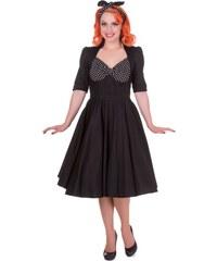 97664cc9c85 Dolly and Dotty retro šaty Lillian černobílé