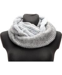 Delfin Zimní dámská pletená šála - tunel oboustranná kožešinová aca17701b0