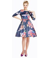 LINDY BOP Dámské retro šaty Holly Modrá Orchidej b3027b69d1