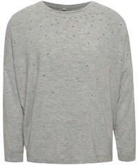 35f3646d639c Sivé dievčenské melírované tričko s aplikáciou name it Kaitlyn