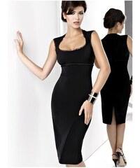 KARTES MODA jednoduché čierne elegantné spoločenské šaty MIDI 34-44 5e269075f3c
