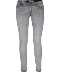 Šedé skinny džíny s vyšisovaným efektem TALLY WEiJL 7ed6fc5fe0