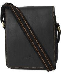 Pánská kožená taška přes rameno Hexagona 154191 - černá 740266c3ec