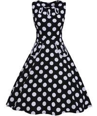 0c9d4559652 NoName 002 Dámské RETRO šaty černé s puntíky