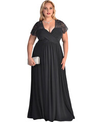 NoName 001 Dámské šaty pro plnoštíhlé černé XXL 07dc6de649