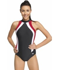 d46f48c3ca4 Winner Dámské plavky Olivia jednodílné černočervená