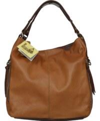 Talianská kožená kabelka Gemma Marrone 61a3177beb3
