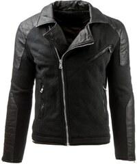 Manstyle Pánská prošívaná přechodová bunda černá 0eeb3a0171b