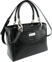 Dámská kožená kabelka Bosccolo B1 černá aligátor fbae04c4a1